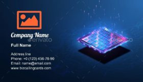 Abstract Tech Web site Business Card Template