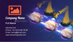 Automatic Logistics Management Business Card Template