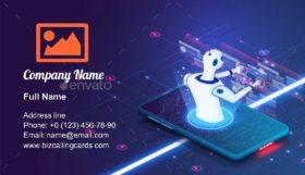 Artificial Intelligence Internet Business Card Template