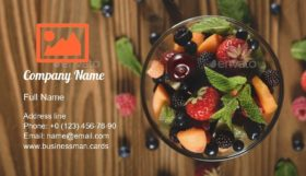 Assorted Fruits in Bowl Business Card Template