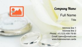 Wedding Ring with Clock Business Card Template