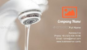 Bathroom Faucet Water Business Card Template