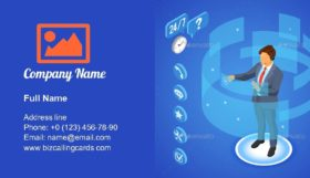 Online Customer Support Business Card Template