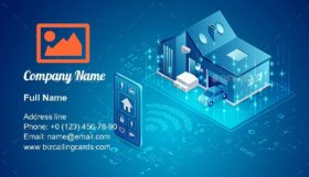Smart home technology Business Card Template
