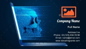 Computer virus or hacker Business Card Template