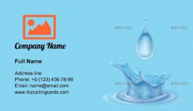 Clean Water Drops Business Card Template