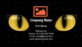 Yellow Cat Eyes Business Card Template