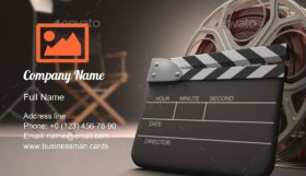 Cinema Entertainment Business Card Template