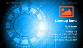 Colourful technical design Business Card Template