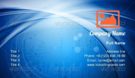 Bright blue design Business Card Template