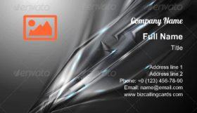 Abstract black shapes Business Card Template