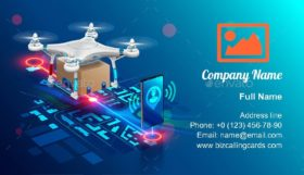 Drone Delivery of order Business Card Template
