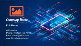 IOT via 5g internet Business Card Template