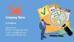 Audit and Tax Accounting Business Card Template