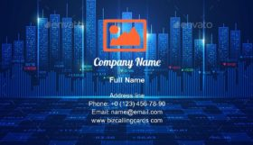 Stock Market Exchange Business Card Template