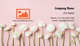 Ranunculus Flowers Business Card Template