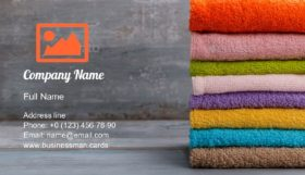Colorful Bath Towels Business Card Template