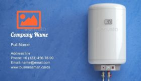 Electric Water Heater Business Card Template
