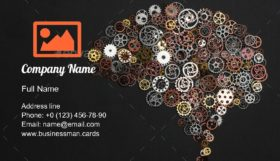 Brain of Cogwheels Business Card Template