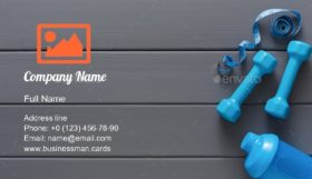Fitness Sport Equipment Business Card Template