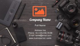 Personal Equipment Business Card Template
