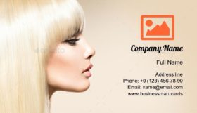 Girl with Smooth Hair Business Card Template