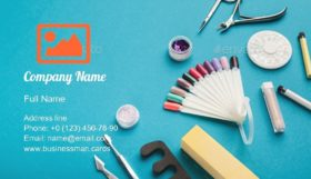 Manicure Supplies Business Card Template