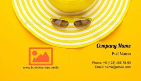 Sunglasses and Hat Business Card Template