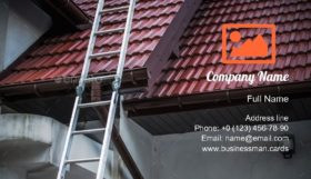 Ceramic Roof Tiling Business Card Template