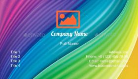 Colored Abstract Modern Business Card Template