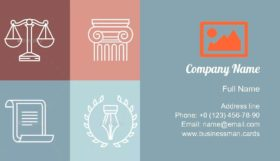 Juridical and Legal Logos Business Card Template