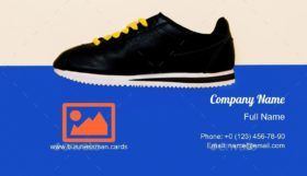 Sneakers Fashion Design Business Card Template
