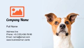 Portrait of a Cute Dog Business Card Template