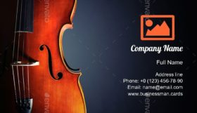 Cello for Classical Music Business Card Template