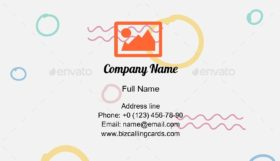 Abstract Ethnic Drawing Business Card Template