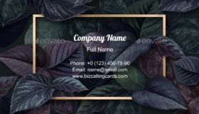 Forest Leaf Frame Business Card Template