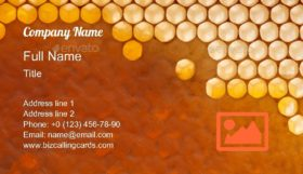 Fresh Organic Honey Business Card Template