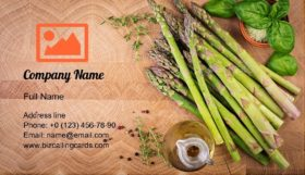 Fresh Green Asparagus Business Card Template
