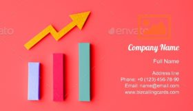 Statistic Analys Diagram Business Card Template