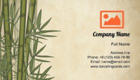 Bamboo Tree Business Card Template