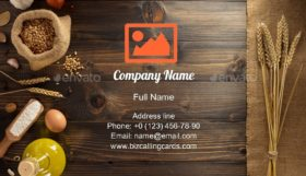 Bakery Ingredients Business Card Template