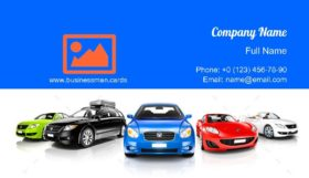 Colorful Generic Cars Business Card Template