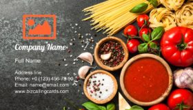 Italian Cuisine Cooking Business Card Template