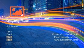 City Road at the Night Business Card Template