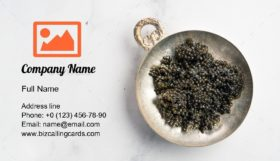 Bowl of Black Caviar Business Card Template