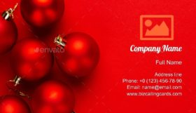 Christmas Decoration Business Card Template