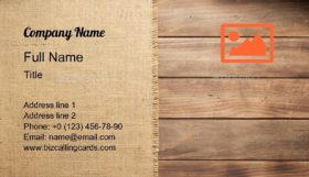 Burlap Hessian Sacking Business Card Template