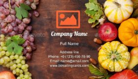 Pumpkins and Fruits Business Card Template