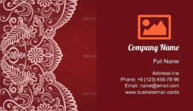 Lace Border Ornament Business Card Template