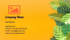 Piece of jungles Business Card Template